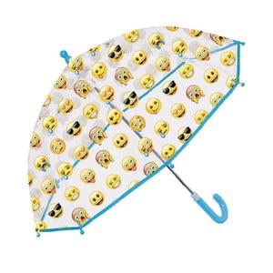 Umbrelă pentru copii Ambiance Perletti Emoji Blue