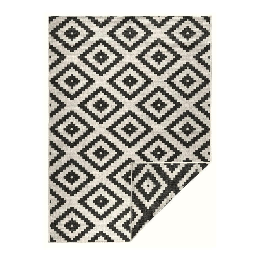 Černo-krémový venkovní koberec Bougari Malta, 160 x 230 cm