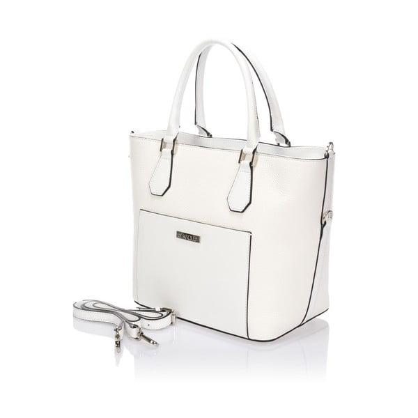 Bílá kožená kabelka Krole Kayleen