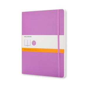 Fialový zápisník Moleskline Soft, extra velký, linkovaný