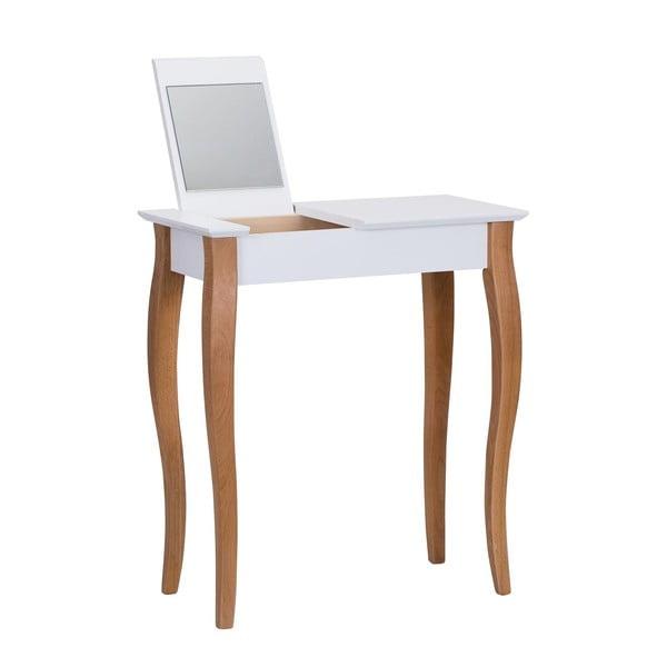Dressing Table fehér fésülködőasztal tükörrel, hosszúság 65 cm - Ragaba