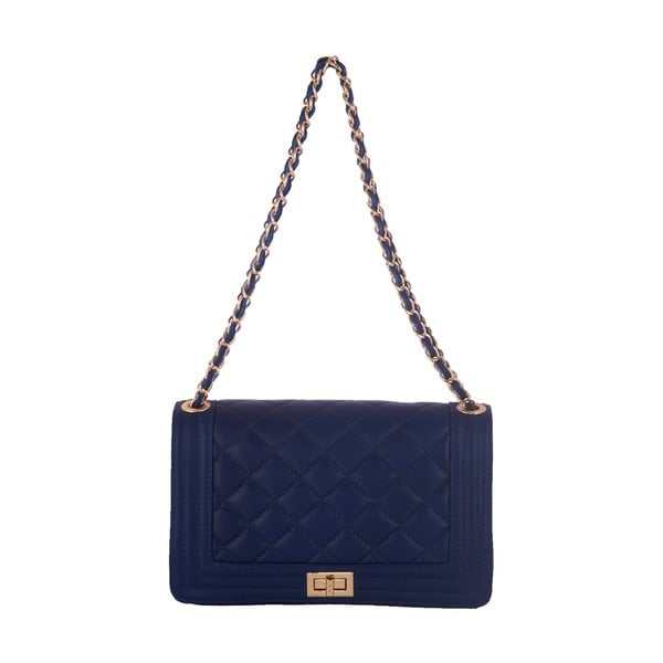 Modrá kabelka z pravé kůže Andrea Cardone Debora