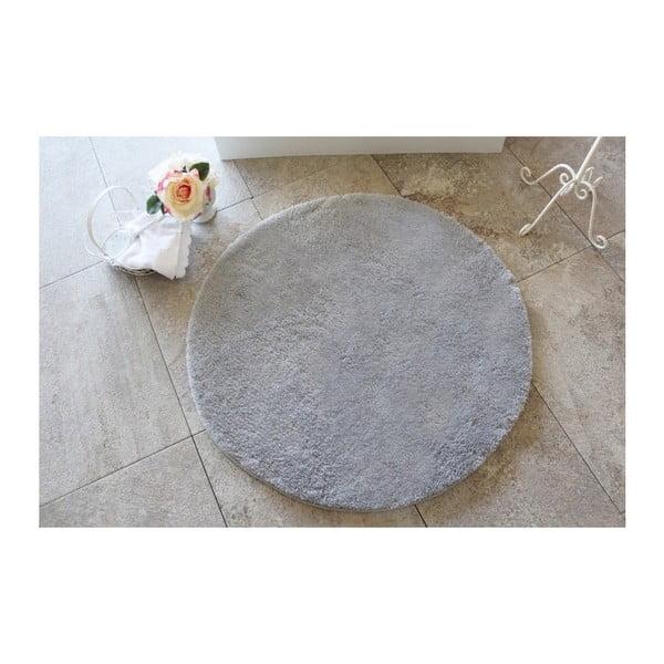 Šedá koupelnová předložka Confetti Bathmats Colors of Grey, ⌀ 90 cm