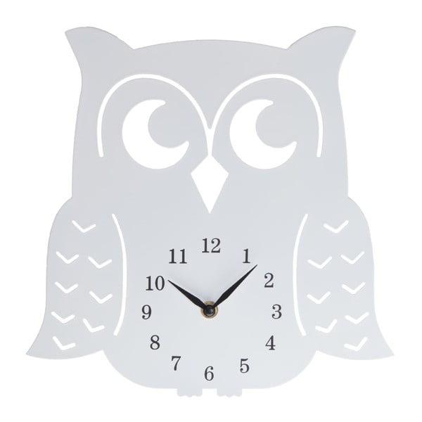 Dřevěné hodiny Clock Owl, 30 cm