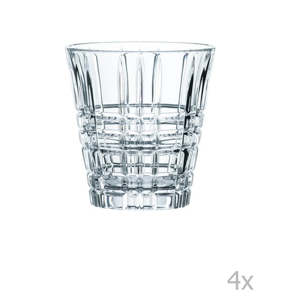 Sada 4 sklenic z křišťálového skla Nachtmann Square Tumbler, 260 ml