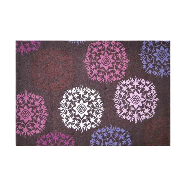 Vlněný koberec Purple Starbust, 121x182 cm