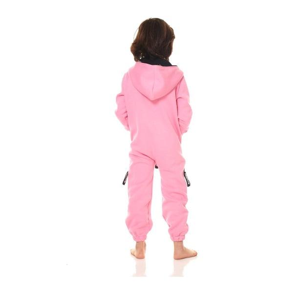 Růžový dětský domácí overal Streetfly, pro děti 2-3 roky
