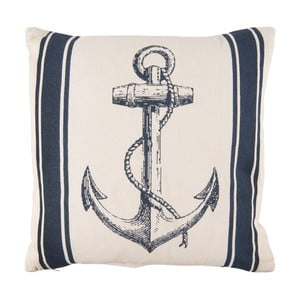 Béžovo-modrý polštář Clayre&Eef Navy, 45 x 45 cm