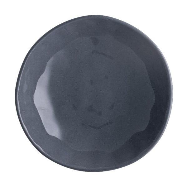 Ciemnoszary talerz porcelanowy na pizzę Brandani Pizza, ⌀ 20,5 cm
