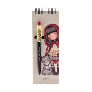Set zápisníku a propisky Santoro London Gorjuss Little Red Riding Hood, 70 stran