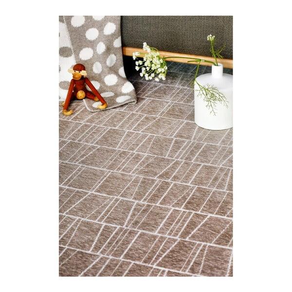 Béžový vzorovaný oboustranný koberec Narma Kursi, 140 x 200cm