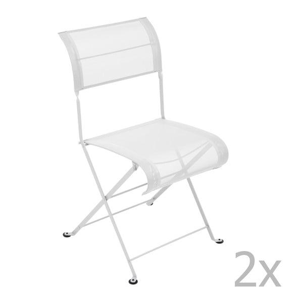 Sada 2 bílých skládacích židlí Fermob Dune