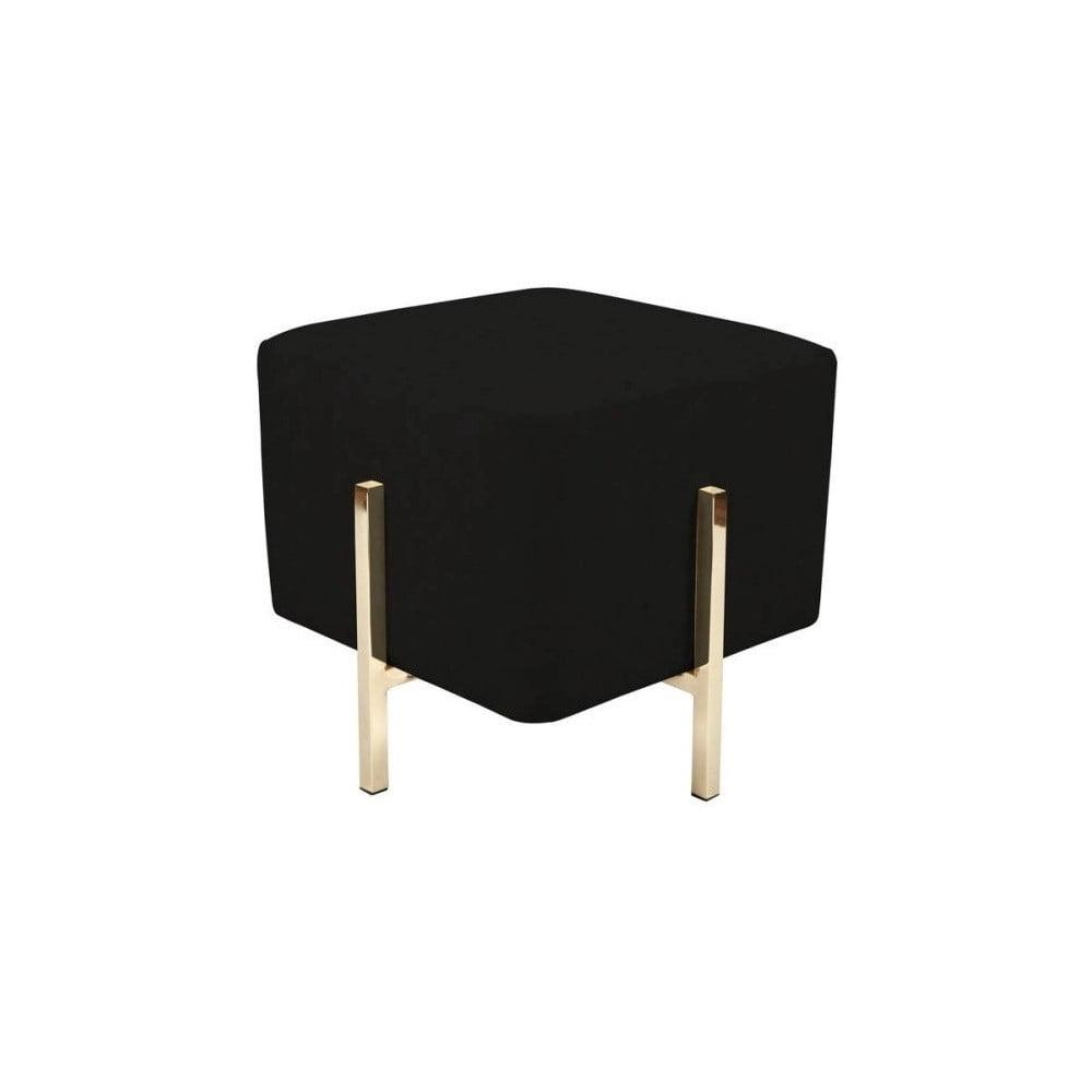 Černá stolička s nohami ve zlaté barvě Vivorum Liani