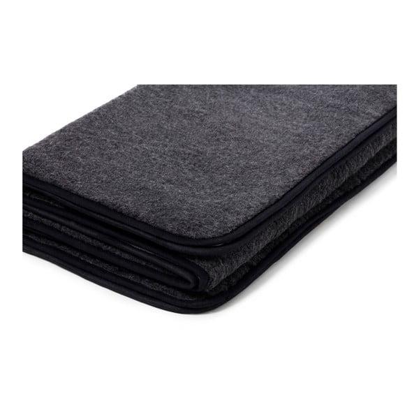 Černá deka z merino vlny Royal Dream Quilt, 220x200cm