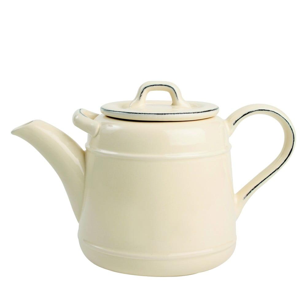 Krémová keramická čajová konvice T&G Woodware Pride Of Place, 1,5 l