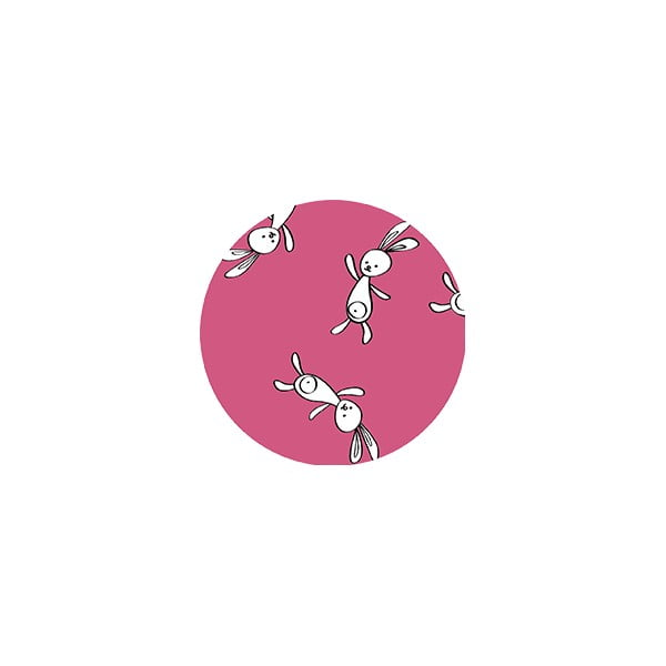 Stylové návleky na rukojeť kočárku Double, pink bunny