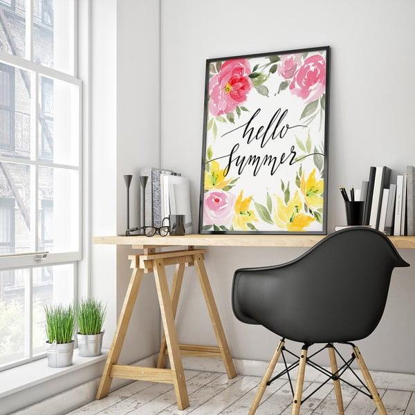 Plakát Hello Summer, 30 x 40 cm