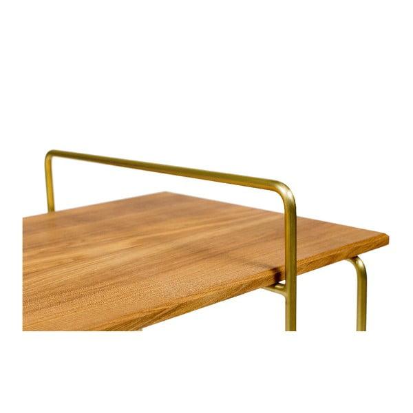 Odkládací stolek s deskou z dubového dřeva Askala Carlo Bronze