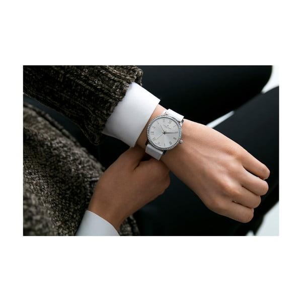 Dámské hodinky s bílým páskem z pravé kůže Frederic Graff Ruinette