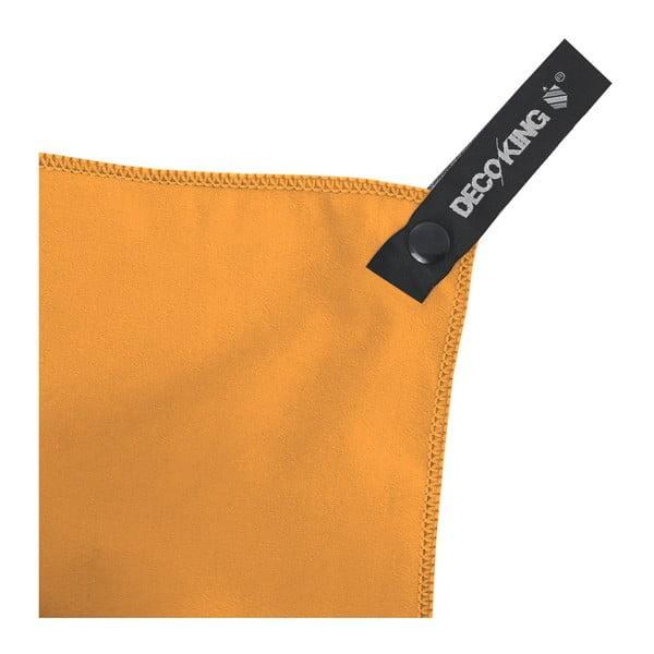 Oranžová rychleschnoucí osuška DecoKing EKEA, 70 x 140 cm