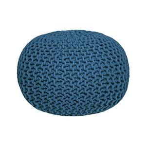 Pouf tricotat LABEL51 Knitted, albastru