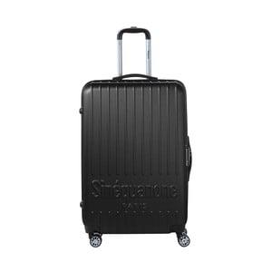 Černý cestovní kufr na kolečkách s kódovým zámkem SINEQUANONE Rina, 107 l