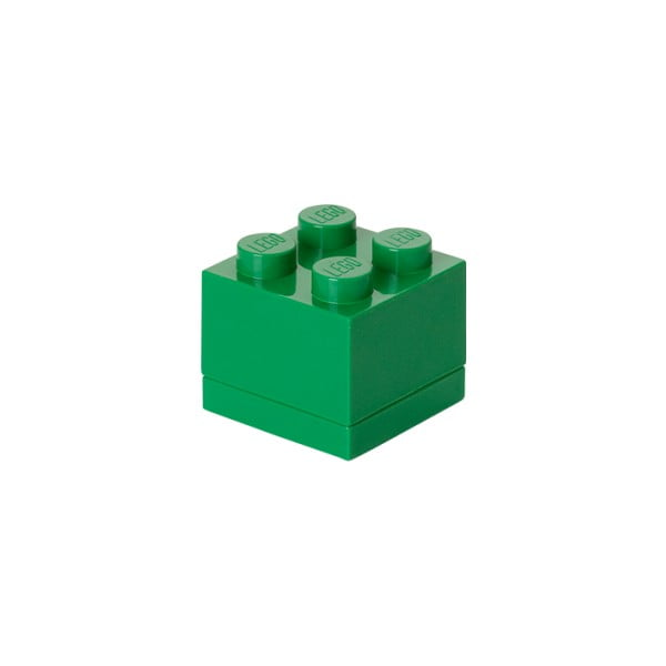 Cutie depozitare LEGO® Mini Box Green, verde