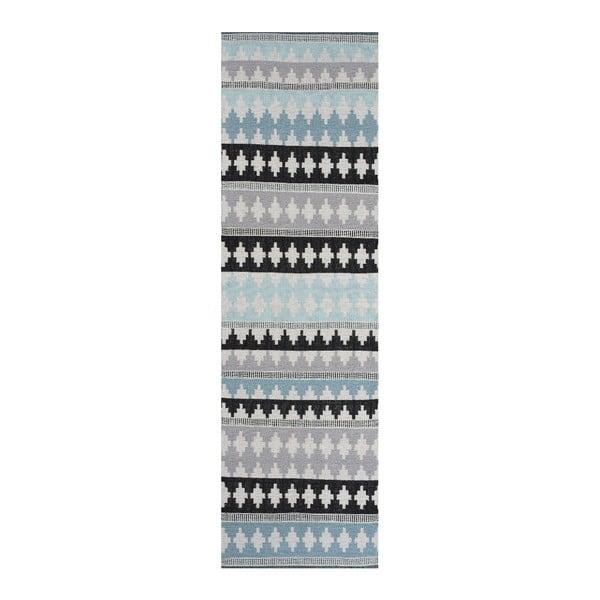 Modrý bavlněný koberec  Linie Design Nantes, 80x150cm