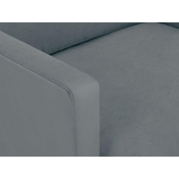 Šedé křeslo s podnožím v černé barvě Windsor & C Sofas Jupiter