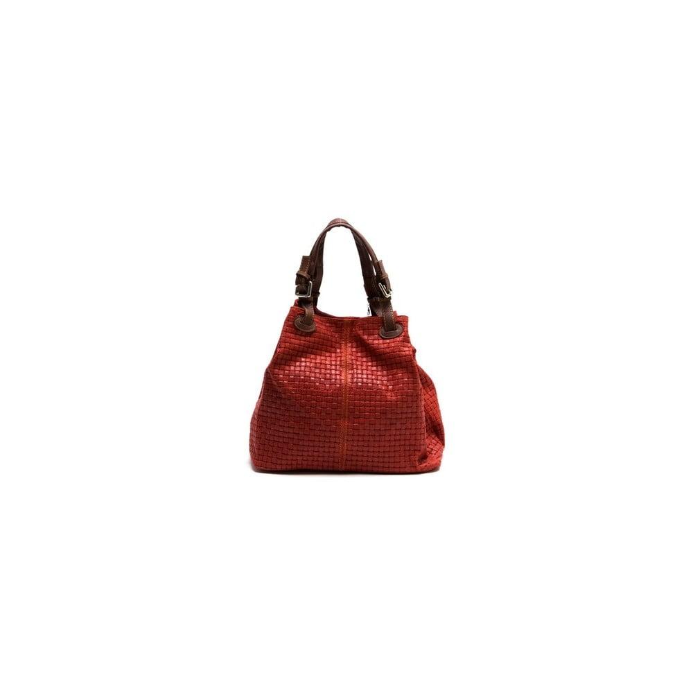 Červená kožená kabelka Isabella Rhea Ariya f46bd94f1e