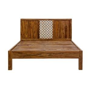 Pat dublu din lemn de palisandru Massive Home Rima, 180 x 200 cm