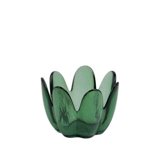 Fľaškovo zelená miska z recyklovaného skla Ego Dekor Brotes