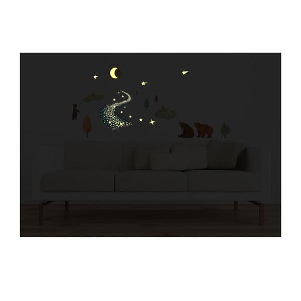 Samolepka svítící ve tmě MaDéco Bears And Tipis