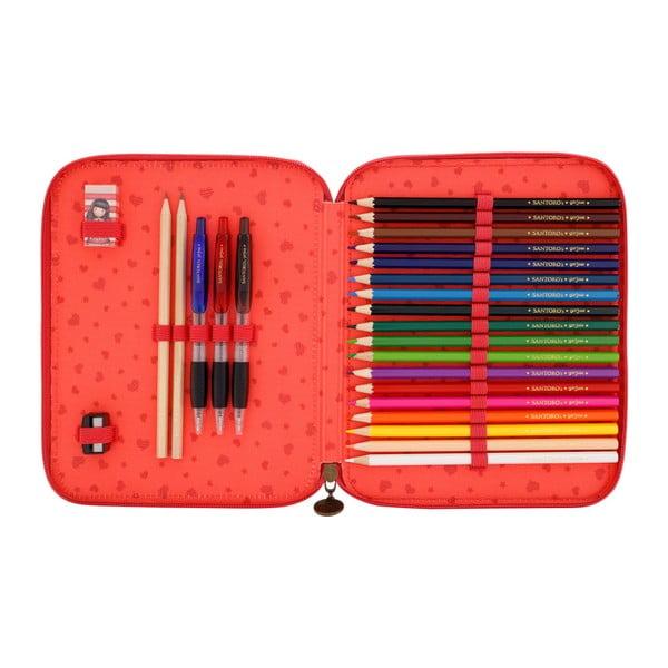 Dvojité pouzdro na pastelky a tužky Santoro London Time To Fly