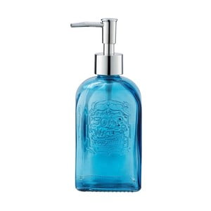 Modrý skleněný dávkovač mýdla Wenko Vetro