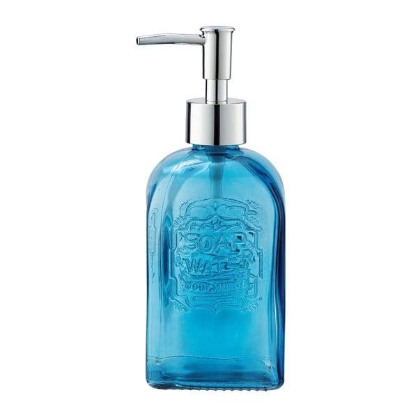 Niebieski szklany dozownik do mydła Wenko Vetro
