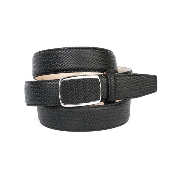 Pánský kožený pásek 10F10 Black, 110 cm
