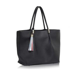 Černá kabelka z eko kůže L&S Bags Tassel