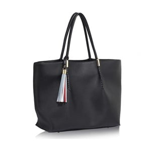 Geantă L&S Bags Tassel, negru