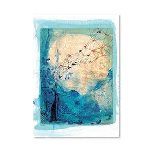 Plakát Blue Collage Archival, 30x42 cm