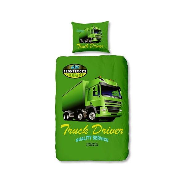 Povlečení Truck Green, 140x200 cm