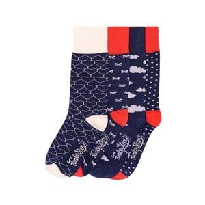 Sada 4 párů barevných ponožek Funky Steps Daniel, vel. 35-39