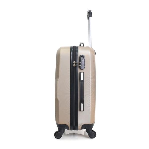 Sada 4 cestovních kufrů na kolečkách Hero Family Champagne
