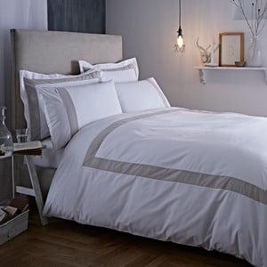 Šedo-bílé povlečení Bianca Tailored,135x200cm