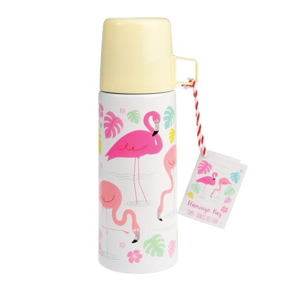Termoska s hrnčekom Rex London Flamingo Bay, 350 ml