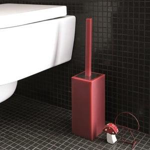 Nerozbitný toaletní kartáč Portascopino, červený