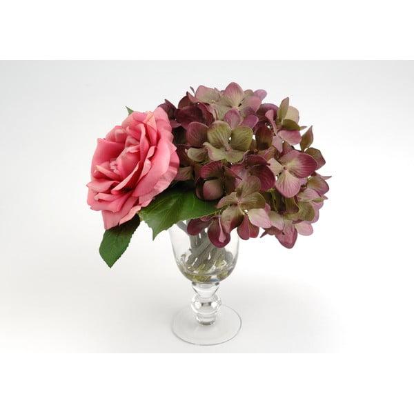Umělé květiny ve váze Milva Pink