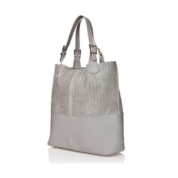 Kožená kabelka Juliana, šedá