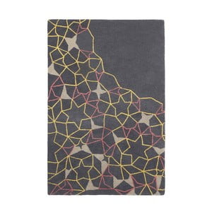 Vlněný koberec Think Rugs Spectrum Grey Yellow Pink, 150 x 230 cm