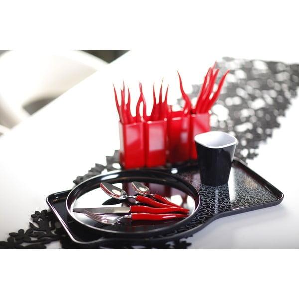 Set 24 tacâmuri cu suport Vialli Design Ama, roșu